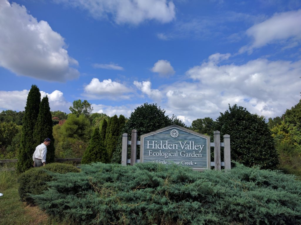 The Hidden Valley Ecological Garden, situated along a formally straightened section of Little Sugar Creek, was created in 2004 and was the first project implemented after the first wave of buyouts. After getting 100% participation from owners of flood prone properties in the primarily low-income Hidden Valley neighborhood, Storm Water Services restored 3,500 linear feet of stream and created 14 wetlands. Additionally, the Ecological Garden connects to a nearby environmental magnet school via a nature trail and serves as an outdoor learning laboratory. Photo by Ashton Rohmer
