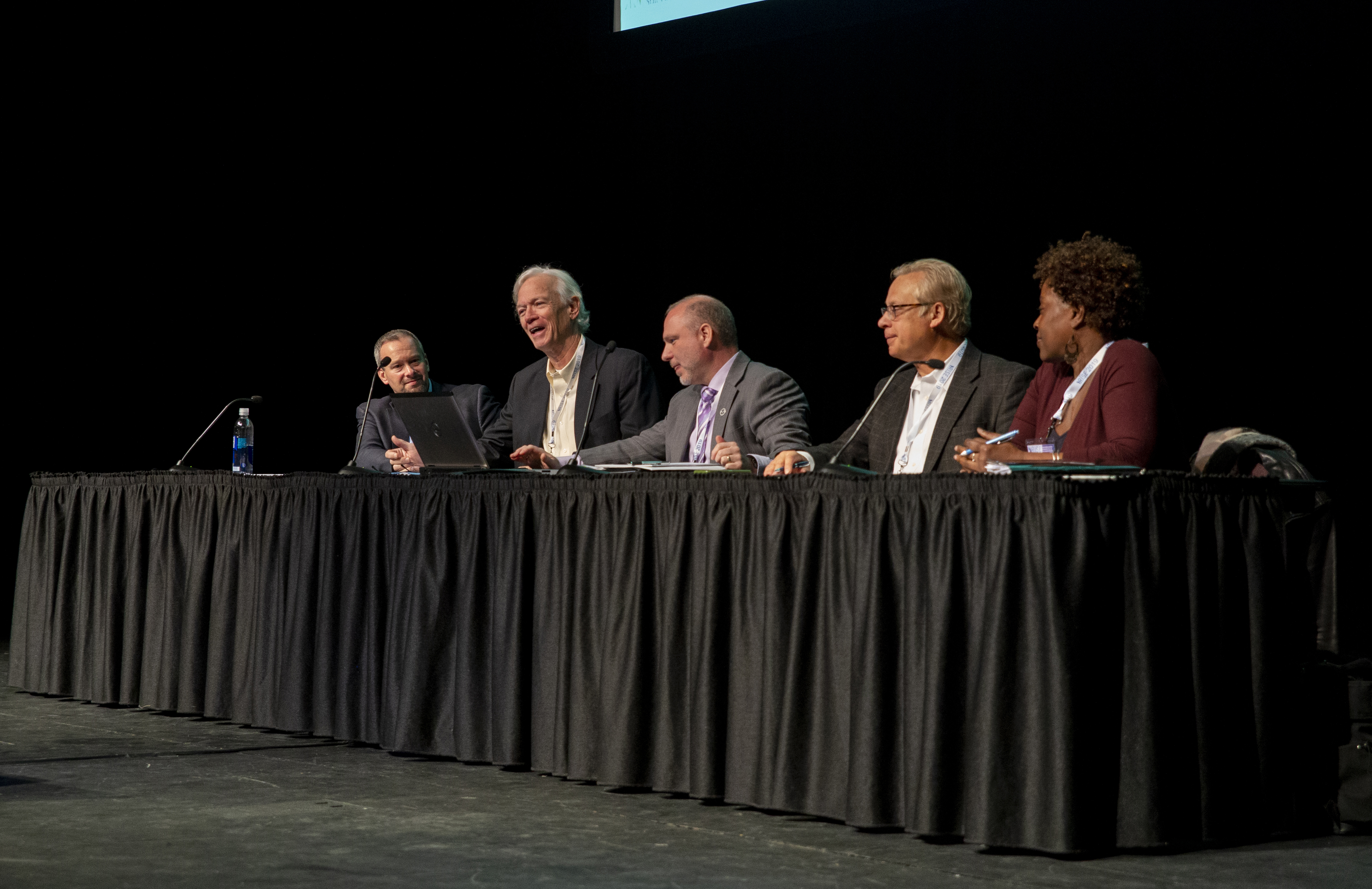 """CRC researcher Dr. Phil Berke of UNC-Chapel Hill, second from left, served on a panel called """"Integrating Universities with Existing Disaster Planning and Response Frameworks and Doctrines."""" Photo By Brian Busher, University of Albany"""
