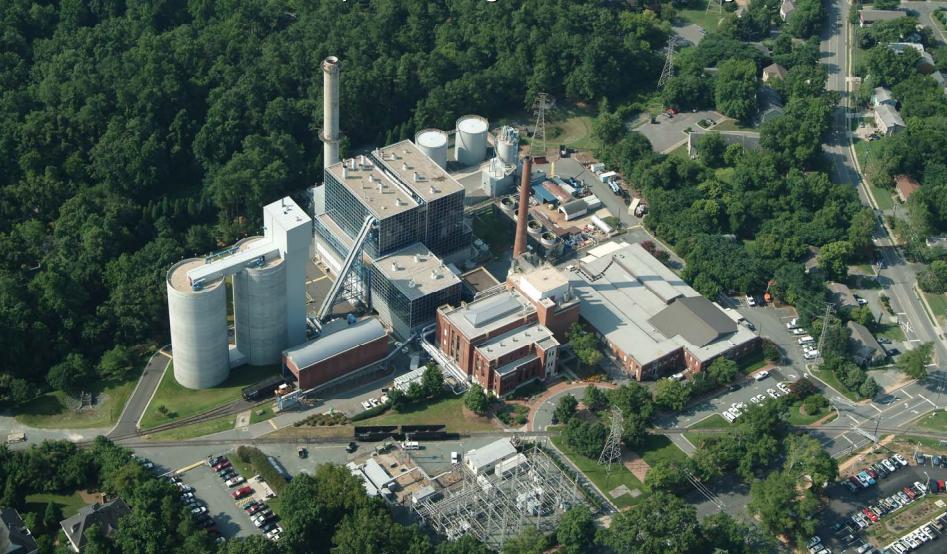 UNC-Chapel Hill's cogeneration plant. Photo from the North Carolina Legislature.