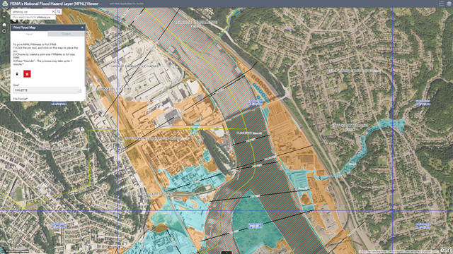 The National Flood Hazard Layer is a geospatial database that contains current effective flood hazard data. The Federal Emergency Management Agency (FEMA) provides the flood hazard data to support the National Flood Insurance Program. Image via FEMA.