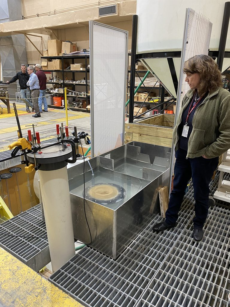 The Coastal Hydraulic Lab has a lot of interesting research going on, and this project is working to investigate sand boils causing internal erosion at levee sites.