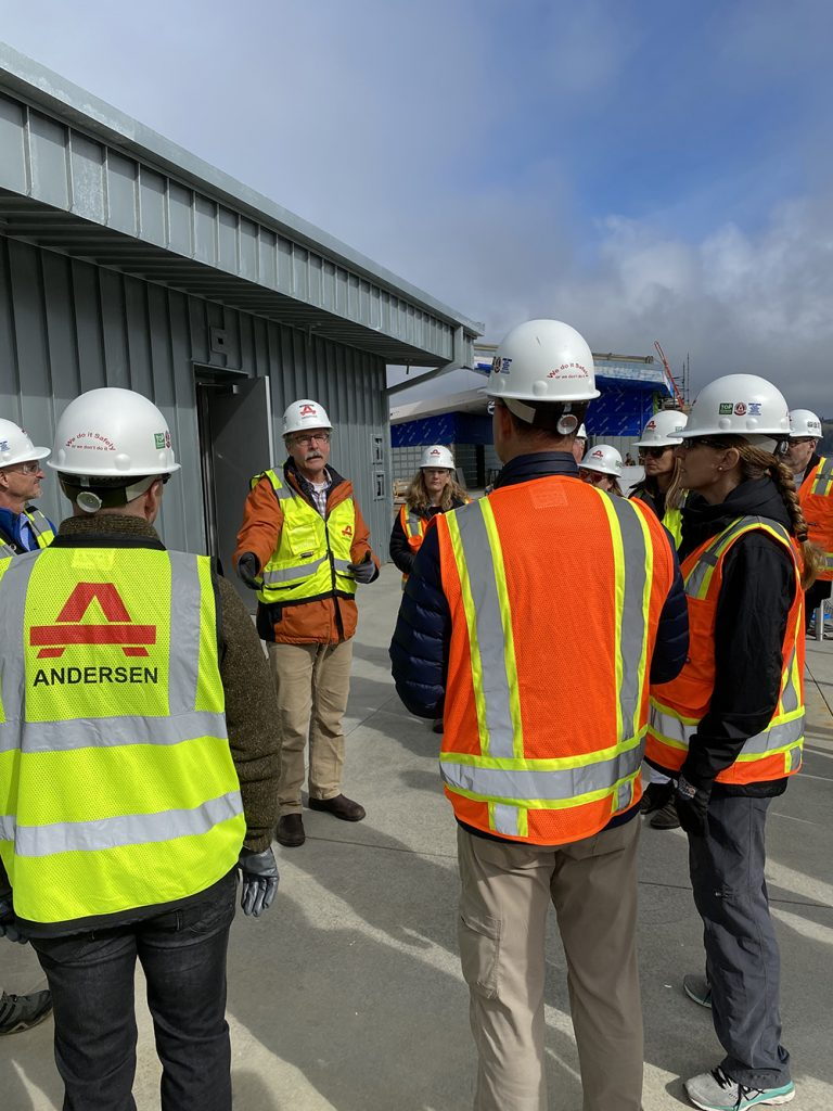 """Touring the new Oregon State University (OSU) Marine Studies building which uses state-of-the-art architectural and engineering techniques to serve as one of the first """"vertical evacuation"""" tsunami sites in the United States."""