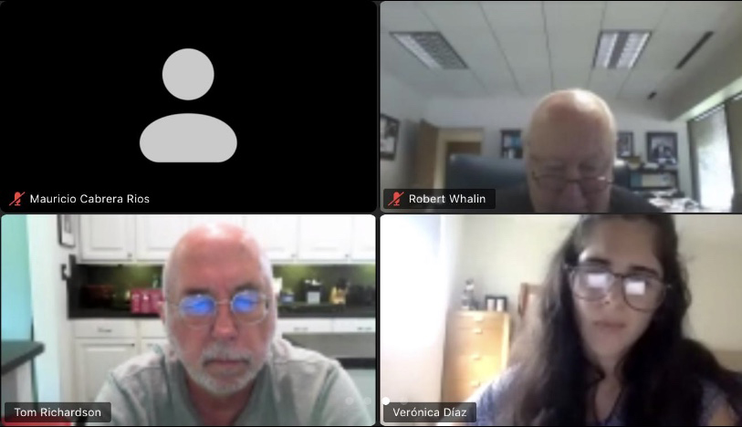 The UPRM team meets with CRC Executive Director Tom Richardson and Education & Workforce Director Robert Whalin over Zoom during the summer.