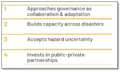 Guiding Principles for Resilient Disaster Management